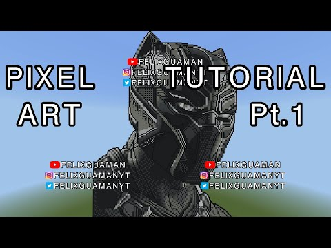 Minecraft Pixel Art Tutorial - Black Panther Part 1 thumbnail