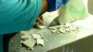 珍珠貝殼切片加工