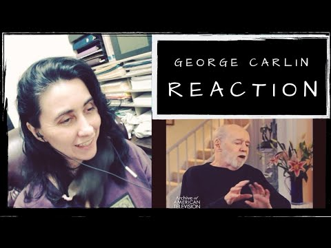 George Carlin: Why It's Important Not to Give a S&*t   REACTION   Cyn's Corner