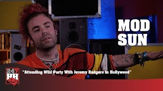 Mod Sun - Attending Wild Party With Jeremy Rodgers In Hollywood (247HH WTS)