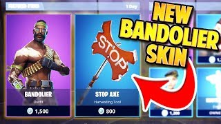 NEW BANDOLIER SKIN + STOP SIGN PICKAXE in FORTNITE | TBNRKENWORTH