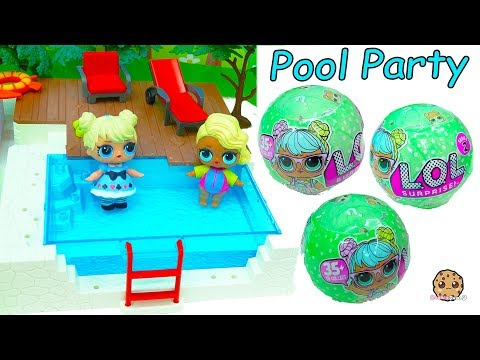 LOL Surprise Big Sister Baby Doll Blind Bag Balls Pool Party - Water Toy Video