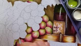 Uvas rosê – Vídeo 1 – Ana Ferrante Pintura em tecido