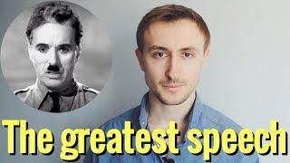 The greatest speech ever made! Чарли Чаплин / Великий диктатор
