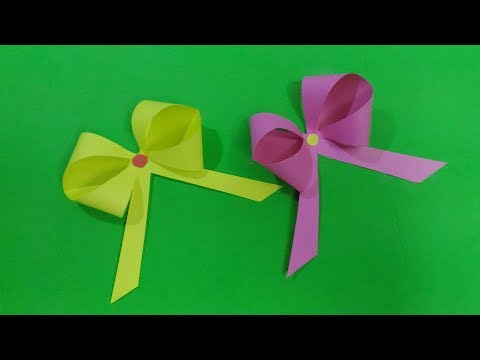 How to make easy Bow/Ribbon using origami paper,,!