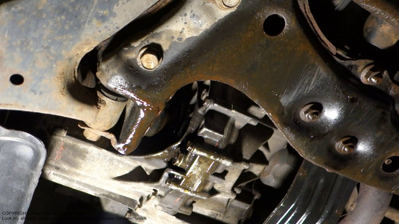 How To Repair Drive Axle And Gearbox Seal Gasket Oil Leak Youtube