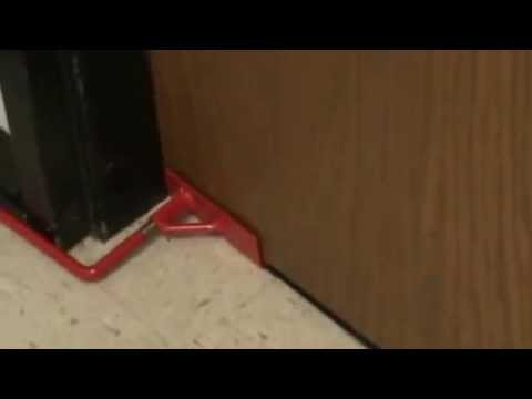 School Security Solutions  Low Profile Out Swing Door Security Boot   Install   YouTube