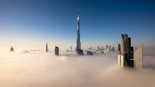 Buildings in Dubai above the Clouds