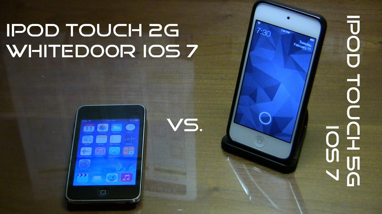 ipod touch 2g whited00r ios 7 vs ipod touch 5g ios 7. Black Bedroom Furniture Sets. Home Design Ideas
