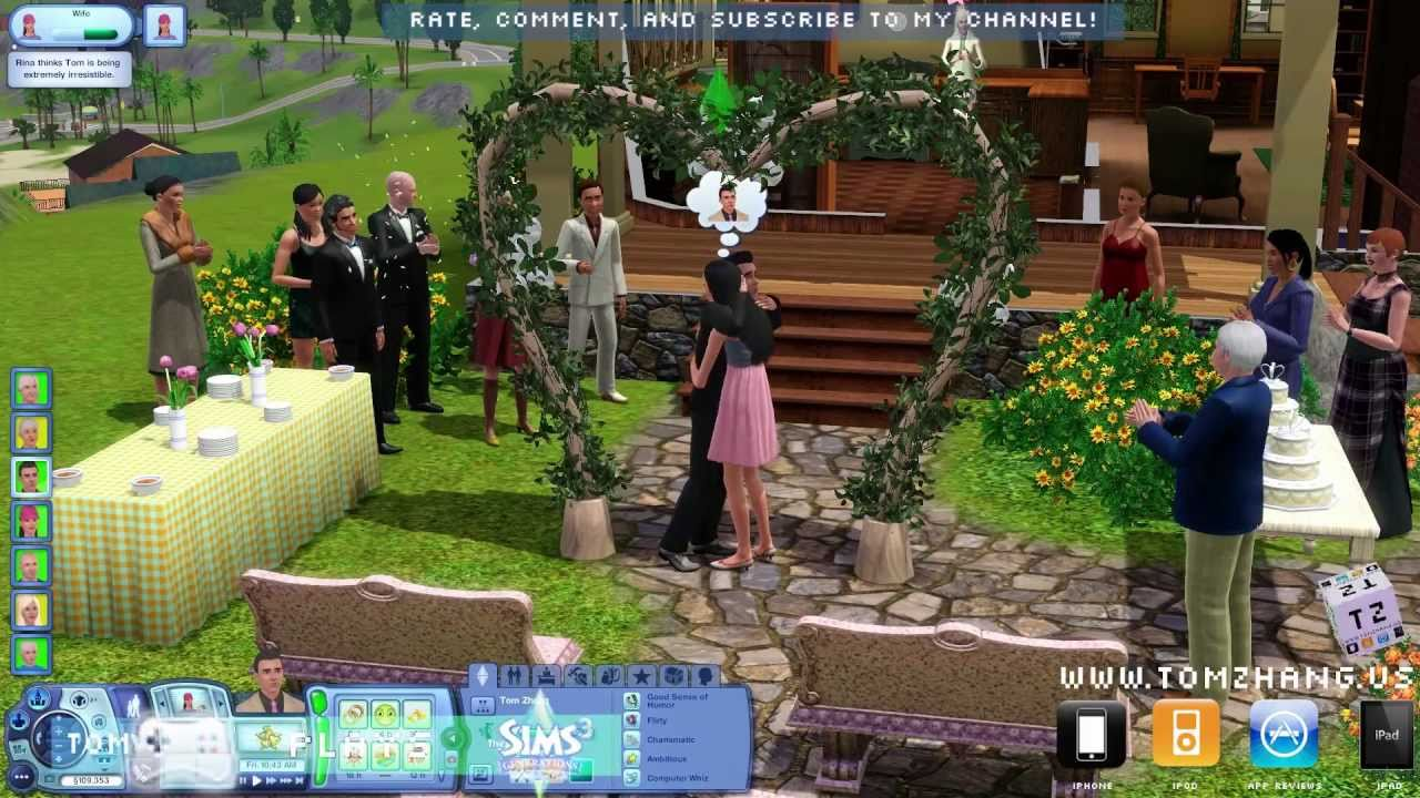 The Sims 3 Generations Wedding Party Ceremony Expansion