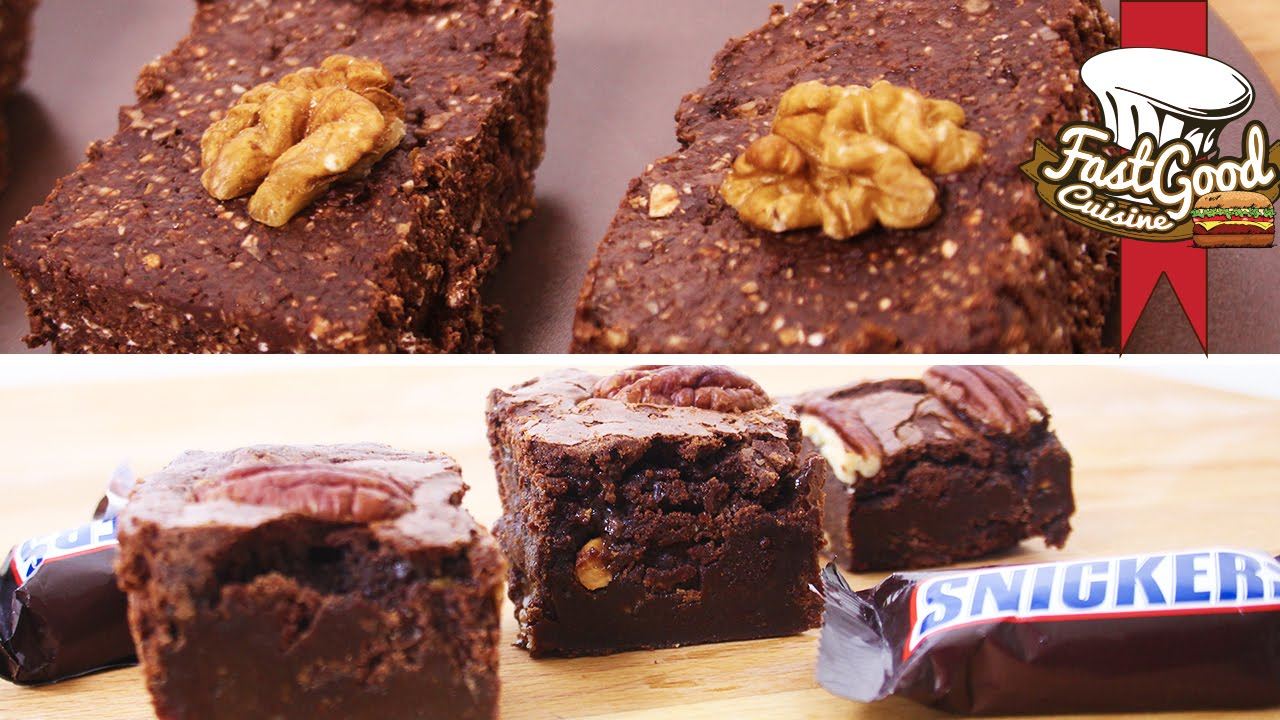Recette de brownies snickers vs brownies musculation youtube - Recette cuisine musculation ...
