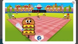 Google Doodle July 4th Baseball Game