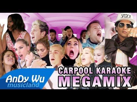 CARPOOL KARAOKE MEGAMIX ft. James Corden & All...
