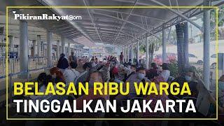 11.000 Warga Tinggalkan Jakarta Naik Kereta Jelang Larangan Mudik Lebaran 2021