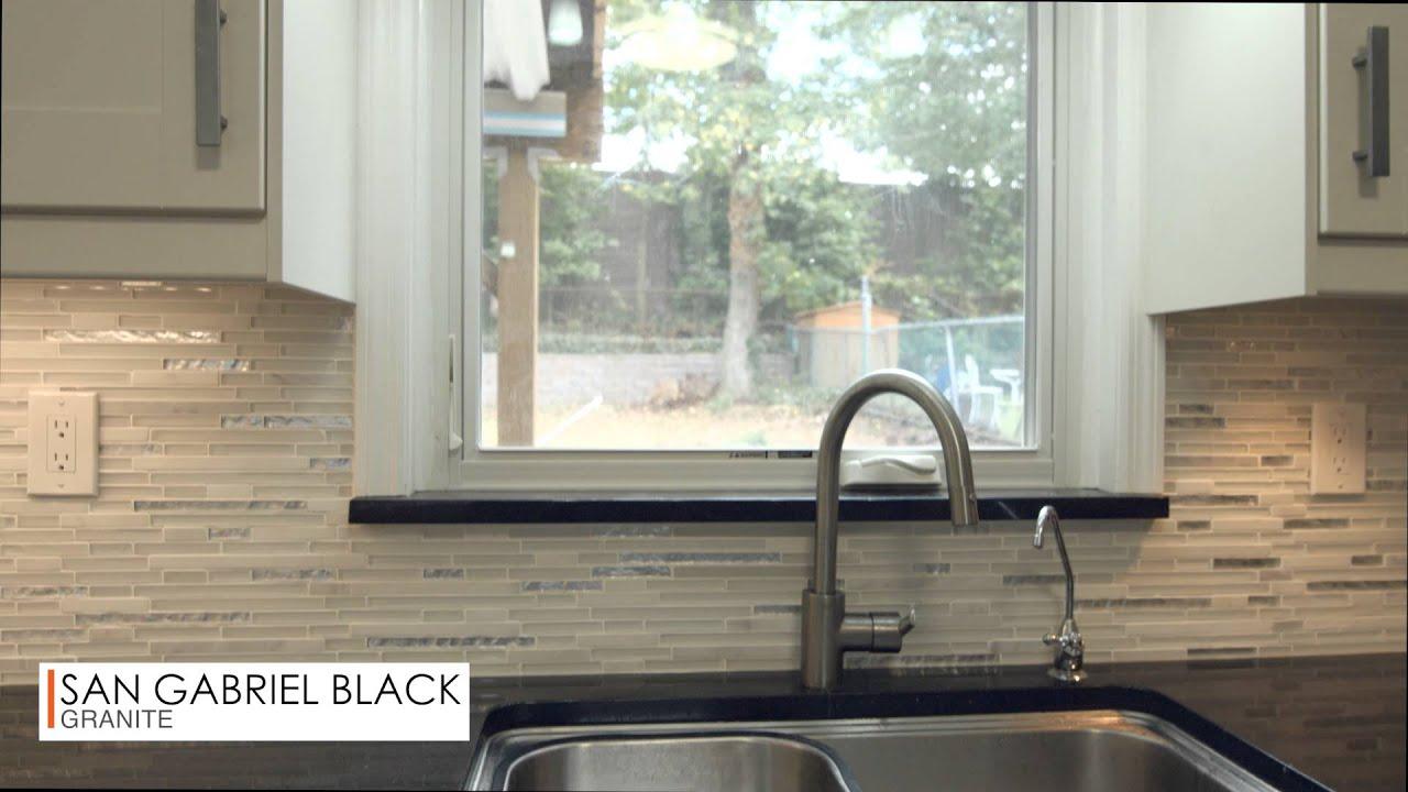 San Gabriel Black Granite Kitchen Countertops
