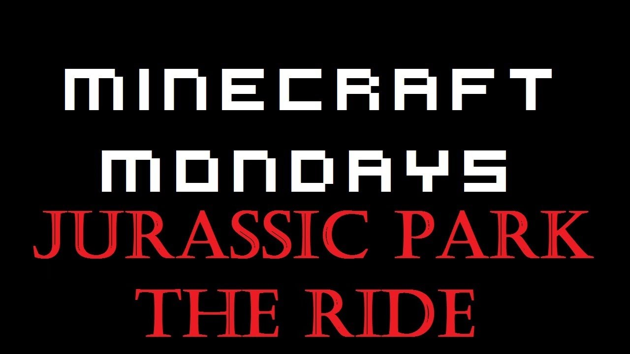 Jurassic Park The Ride Minecraft Mondays Youtube