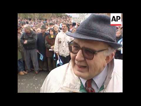 Croatia - Pensioners demand better pension