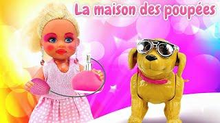 Vidéo drôle en français pour enfants. Le cadeau de Barbie. Evi est restée seule à la maison.