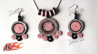 Diy How To Make Paper Quilling Jewelry Set - Jk Arts 370