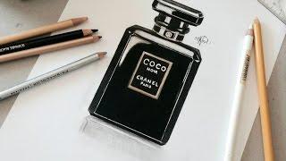 Draw Coco Chanel Perfum♧