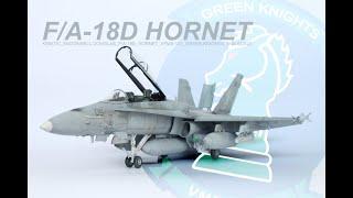 Kinetic F A 18D Hornet USMC Green Knights 1 48 The Inner Nerd