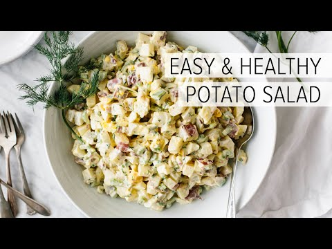 BEST POTATO SALAD RECIPE | how to make potato salad easy, healthy and delicious!
