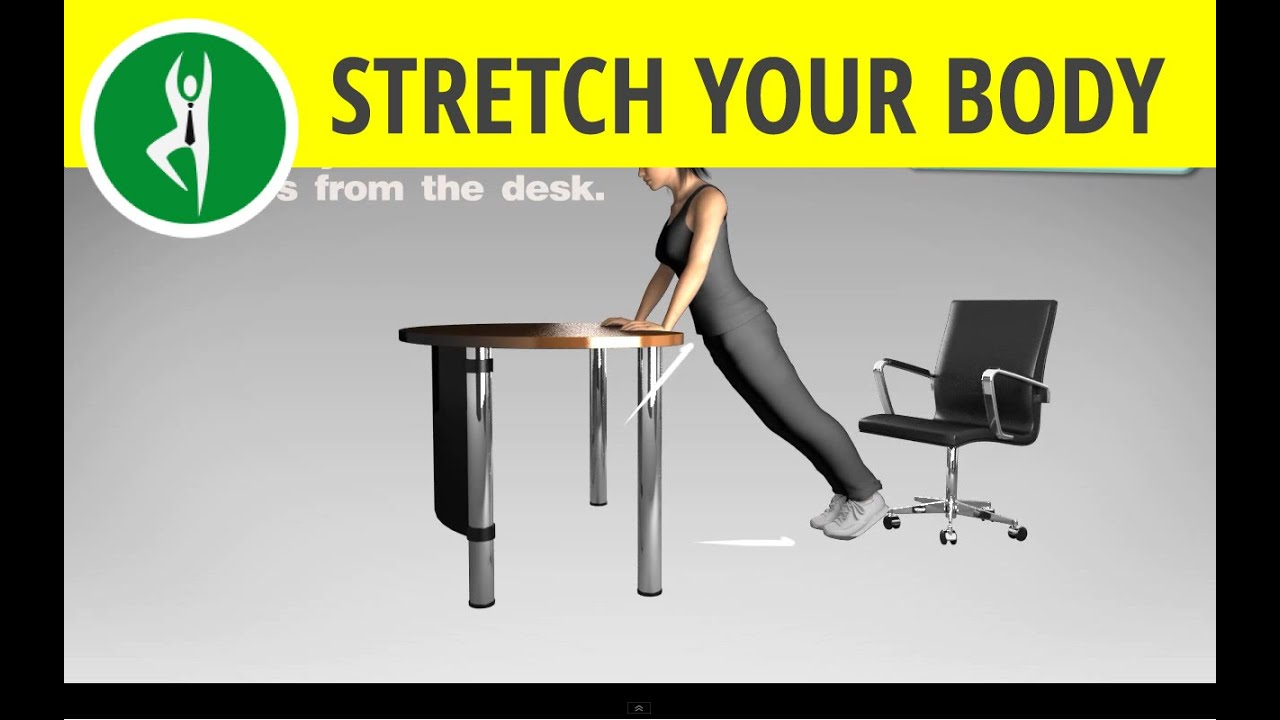 Office Exercise Routine: Total Body (Abs Exercise And Arms) Workout At Office  Desk   YouTube