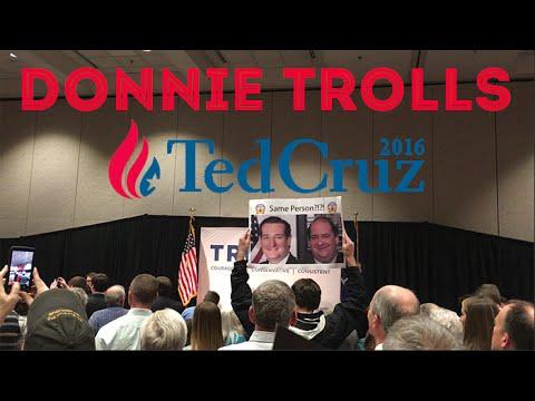 DONNIE DOES | Trolling Ted Cruz