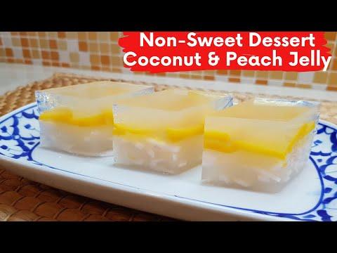 Non-Sweet Dessert Coconut & Peach Jelly