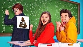 SCHERZI DIVERTENTI DA FARE AI PROF. || Idee Creative Fai-Da-Te! Sfide In Classe su 123 GO! BOYS