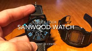 Sanwood Watch 70 Cents From Wish - Japanese Movement?