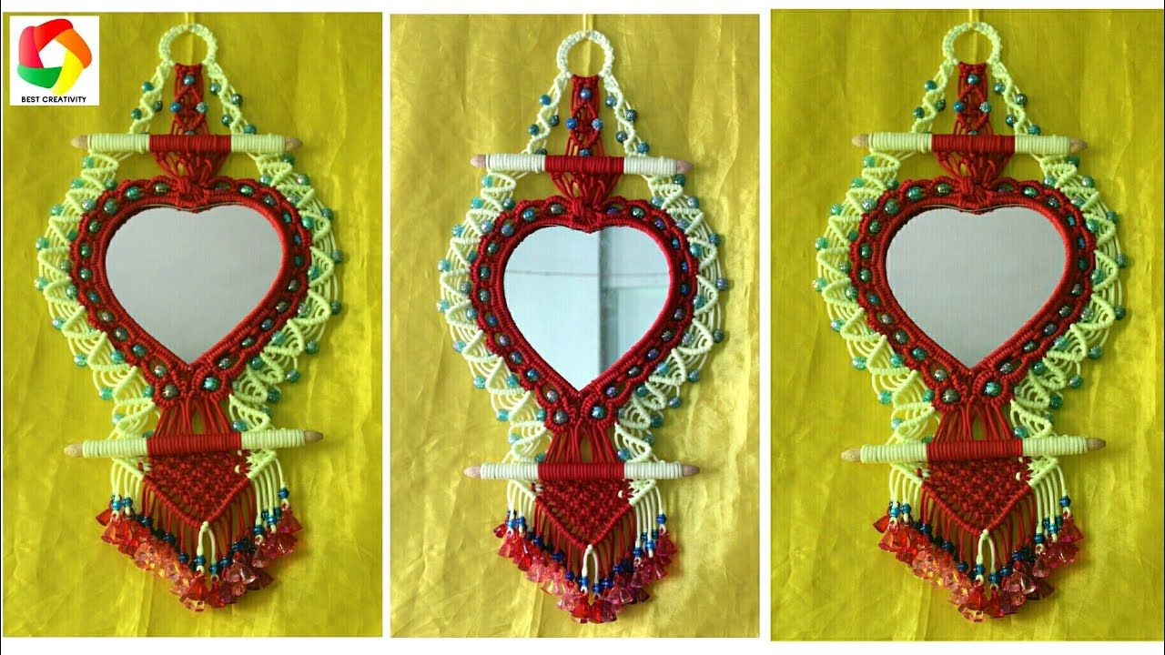 Macrame Mirror Art
