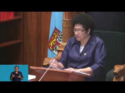 Fijian Parliament Sitting - 24th April 2017 - 9.30am