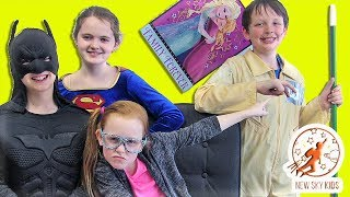 Little Superheroes 13 - Larry the Joker With Supergirl, Batman and the Intern