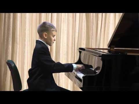 10-летний пианист Андрей Осинцев в Концерте фортепианной музыки,  г. Одесса, 17 января 2014 г.