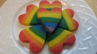 Rainbow Heart Cookies -- Pride Month 2016 #1