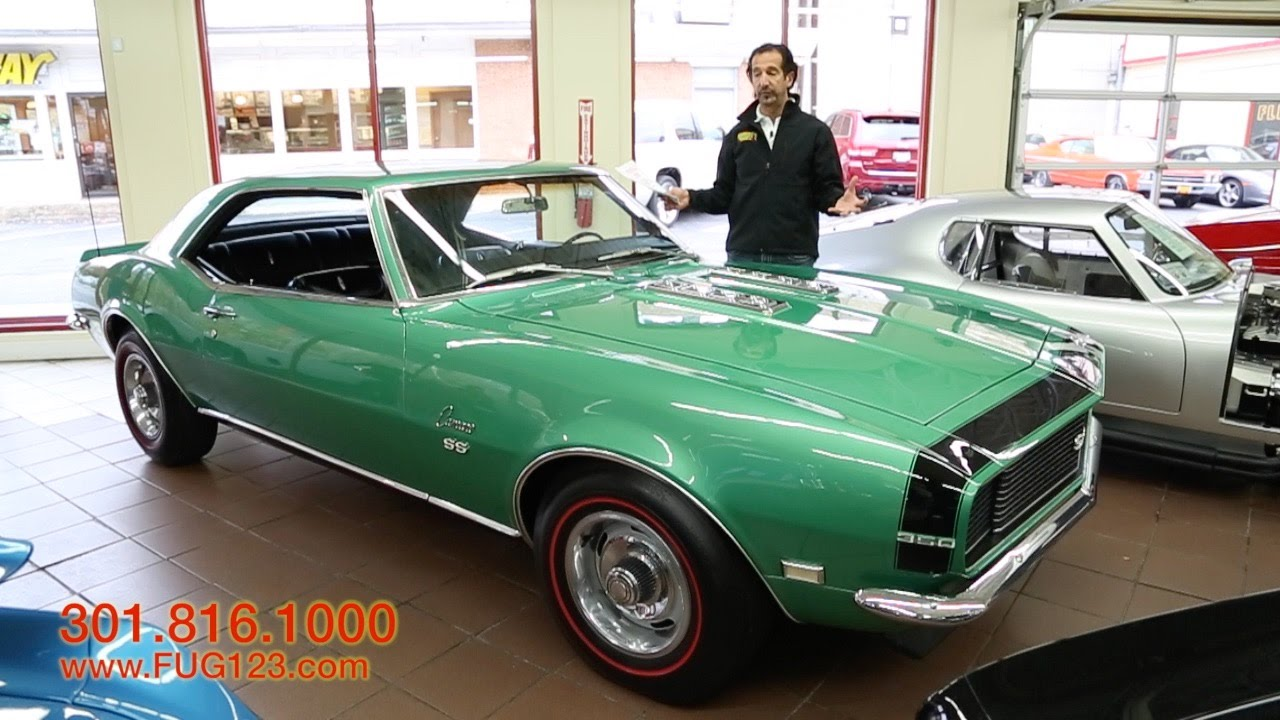1968 Chevrolet Camaro Rs Ss For Sale With Test Drive Driving Sounds Black And Walk Through Video Youtube