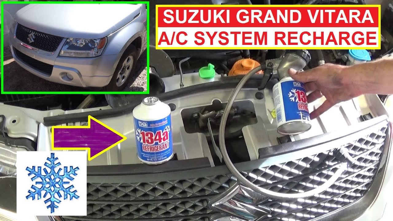 suzuki grand vitara how to recharge the a c system how to refill air conditioner [ 1280 x 720 Pixel ]