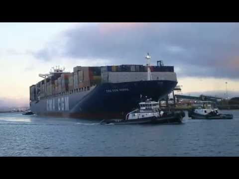 Bay Area Container Ship Spotting - CMA CGM Norma inbound at Port of Oakland  June 17, 2013