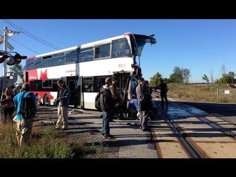 Passenger Train and Bus crash in Ottawa, Canada