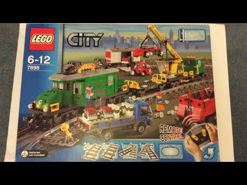 LEGO 7898  Cargo Train Deluxe  Unboxing, Speedbuild and Review