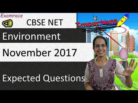 Expected Questions CBSE NET November 2017 Paper 1: Environment