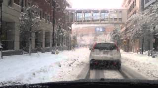 Snow in Charlotte, February 13, 2014