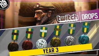 NUOVI TWITCH DROPS (GUIDA) + ARMA, GADGET & LOGO di KAID [Rainbow Six Siege ITA]