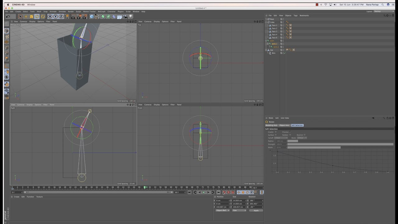 Unboxing using Joint tool in Cinema 4D