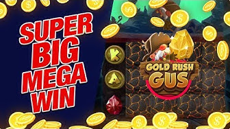 💵 SUPER BIG MEGA WIN 💵 on Gold Rush Gus Slot Online!!