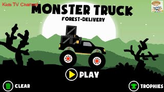 Monster Truck Forest Delivery Full Game Walkthrough (12-All Levels) - Halloween | Kids TV Channel