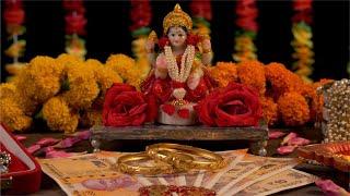 Indian festival Diwali celebration with goddess Lakshmi /  Hindu goddess of wealth, love, prosperity