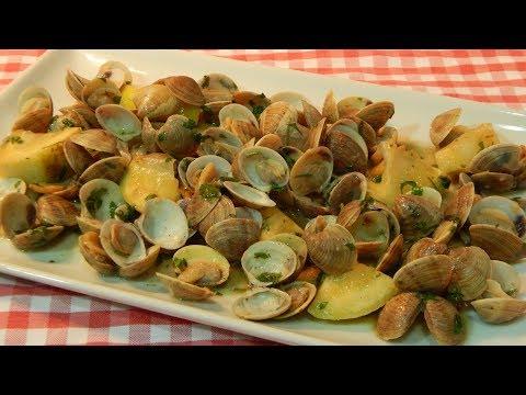 Receta fácil de chirlas al ajo y limón
