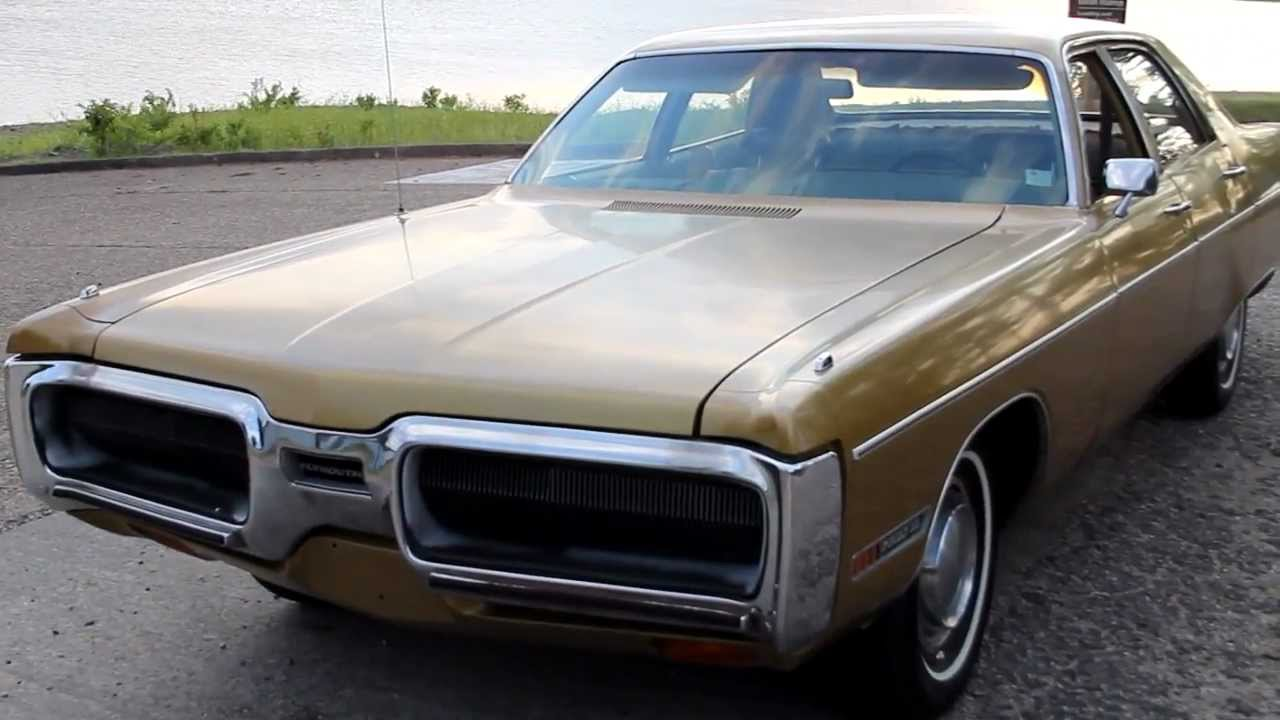 1972 Plymouth Fury 20k Original Miles Aztec Gold